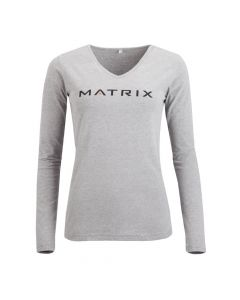 Matrix women's long sleeve shirt grey