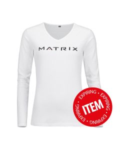 Matrix white women's long sleeve shirt