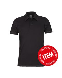 Matrix men's performance Polo Black
