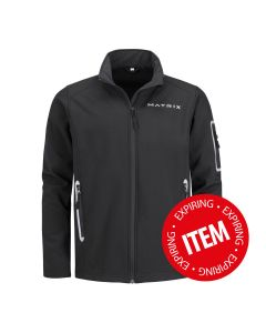 Matrix men's Softshelljacket black